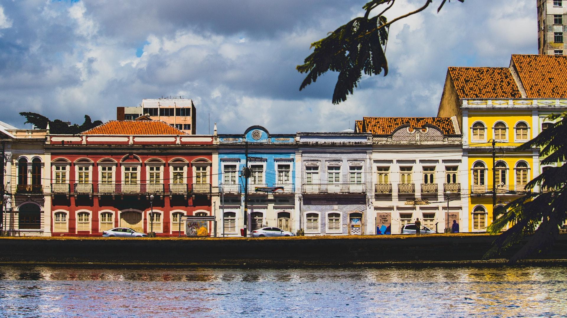 Arquitetura colorida em Recife